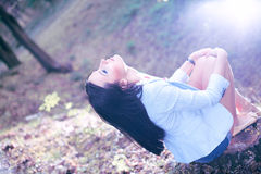 Free Fine Art Photo Of A Woman In Beauty Forest Stock Image - 19758991
