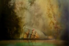 Ship in glass Bottle Royalty Free Stock Photos