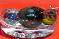 The fine art of glass marble balls Stock Image