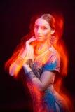 Fine art portrait of beautiful fashion Indian Royalty Free Stock Photos