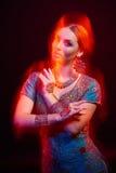 Fine art portrait of beautiful fashion Indian Stock Image