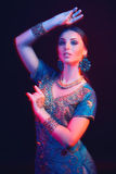 Fine art portrait of beautiful fashion Indian Royalty Free Stock Images