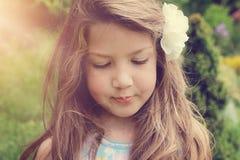 Fine art portrait of beautiful little girl Royalty Free Stock Image