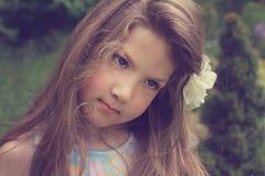 Fine art portrait of beautiful little girl Stock Photos