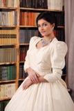 Fine art portrait of a bride in vintage dress Stock Image