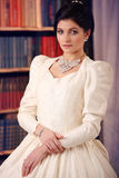 Fine art portrait of a bride in vintage dress Royalty Free Stock Photography