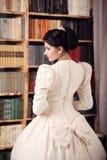 Fine art portrait of a bride in vintage dress Royalty Free Stock Photo