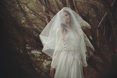 Fine art portrait of romantic bride Stock Photo