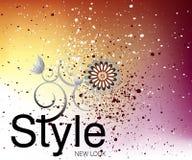 Fine Art spraying background. Editable  illustration of a  spraying background Royalty Free Stock Photography