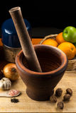 Fine art still life with mortar and pestle Stock Photo