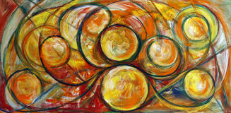 Fine Art Swirls Painting. Fine art painting of swirls and earthy colors Royalty Free Stock Photos