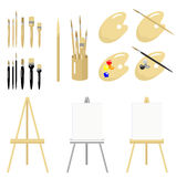 Fine Art Tools. Is original artwork.   The vector file is in AI-EPS8 format Royalty Free Stock Photos