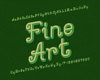 Fine Art typeface. Artistic font. Isolated english alphabet.  vector illustration