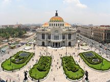 The Fine Arts Palace Museum in Mexico City, Mexico. The Fine Arts Palace Museum called Palacio de Bellas Artes in Mexico City, Mexico Stock Photo