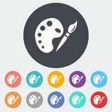 Fine Arts. Single flat icon on the circle. Vector illustration Stock Image