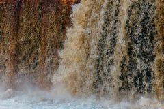 Fine astratta della cascata su fotografia stock