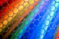 Fine astratta sullo strato dell'involucro di bolla con fondo variopinto immagine stock libera da diritti