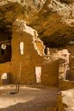 Fine attillata della casa sull'albero su, Mesa Verde NP immagine stock