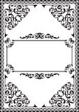 Fine baroque frame. Isolated on white Royalty Free Stock Photo