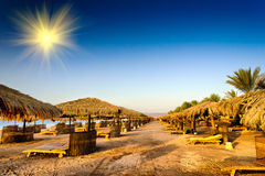 Fine Beach In The Egypt. Royalty Free Stock Photo