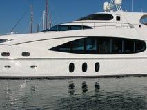 Fine bianca dell'yacht in su Fotografia Stock