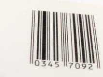 Fine in bianco e nero del codice a barre sulla vista Immagine Stock