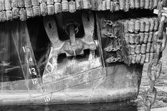 Fine in bianco e nero su dell'ancora Fotografia Stock Libera da Diritti