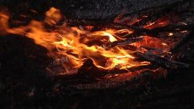 Fine bruciante del fuoco su video d archivio
