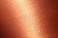 Fine brushed copper texture Stock Images