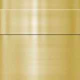 Fine brushed gold metal. Very finely brushed gold metal background texture Stock Photography