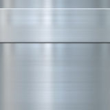 Fine brushed steel metal. Very finely brushed steel metal background texture with panel Stock Photo