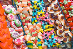 Fine candy at the Boqueria Royalty Free Stock Photography