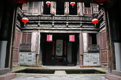 Fine carpentry of a traditional chinese house in Anhui province Stock Photo