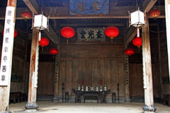 Fine carpentry of a traditional chinese house in Anhui province Royalty Free Stock Images