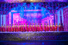The fine carving stage-The historical style song and dance drama magic magic - Gan Po Royalty Free Stock Photo