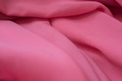 Fine chiffon fabric of pink color Stock Photography