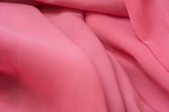 Fine chiffon fabric of pink color Stock Images