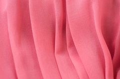 Fine chiffon fabric of pink color Stock Photo
