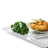 Fine Chilli Prawns Stock Images
