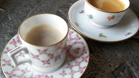 Fine China Bone Dishes Coffee Royalty Free Stock Image