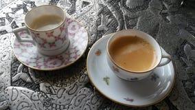 Fine China Bone Dishes Coffee Stock Photo