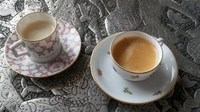 Fine China Bone Dishes Coffee Royalty Free Stock Images