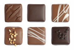 Fine chocolate isolated Stock Photos