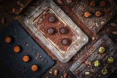 Fine chocolate pralines Royalty Free Stock Photo