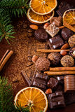 Fine chocolates, pralines and sweets Royalty Free Stock Image