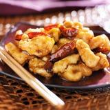 Fine cinese del pollo del TSO di generale su Fotografia Stock