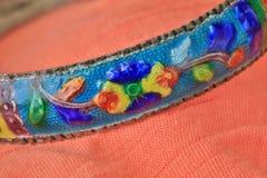 Fine cloisonne bracelet  background Royalty Free Stock Photo