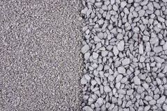 Fine and coarse gravel background Stock Images