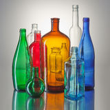 Fine color bottles Stock Photography