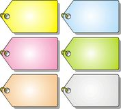 Colored pendants. Fine colored pendants isolated on white background Stock Images
